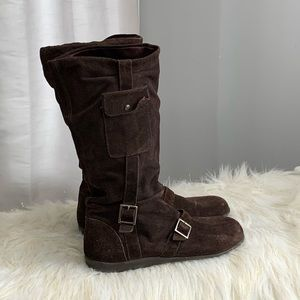 Andrew Stevens brown suede boots size 9